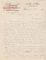 Facture 1914 / P. JOURNE / Filature Tissage / Paris / Moussey Et Moyenmoutier 88 Vosges / Villefranche Sur Saône 69 - France