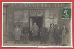 COMMERCE --  CARTE PHOTO - RARE - Café - Cce De Vins - Traiteur - Cafés