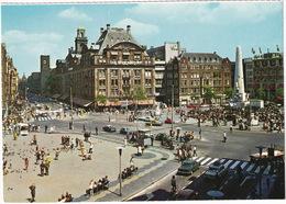 Amsterdam: TRIUMPH 2000, FIAT 125 & 500, FORD 15M TURNIER, VW 1200, OPEL KADETT A & REKORD C TAXI - Dam, Bijenkorf - Toerisme