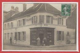COMMERCE --  CARTE PHOTO - RARE - Café - Epicerie  Buvette - Compiegne ? - Cafés