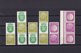 BRD  - 1956 - Zusammendrucke - Michel Nr. S37/S42  - Postfrisch - 132 Euro - BRD