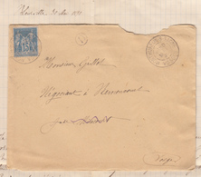 VOSGES LAC 1890 MONTHUREUX SUR SAONE T84 SUR N°90 + BOITE RURALE D = BLEURVILLE - Postmark Collection (Covers)
