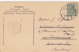 CARTE 1905. CACHET HEXAGONAL DE BESSANCOURT VAL D'OISE SUR CARTE DE BEDEN-BADEN, REDIRIGEE PARIS   /  2 - France