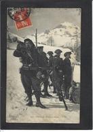 CPA Chasseurs Alpins Ski Militaria Militaires Circulé Chambéry - Régiments