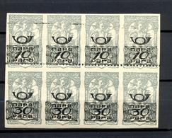 SLOVENIA - Newspaper Stamp, Vertical Pairs 10 And 30 Vinara In Block Of 8, MNH / 2 Scans - Slovénie