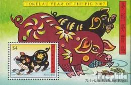 Tokelau Block37 (kompl.Ausg.) Gestempelt 2007 Chinesisches Neujahr - Tokelau