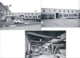 3 Photographies Garage CITROËN  Dans Les Années 50 - Reproducciones