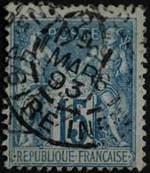-Sage N°101 Type II   O. MAUVES Mars 1893. - 1876-1898 Sage (Type II)