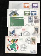 EUROPA CEPT-  1957 Giro Completo FDC ,2 Scans (ref 819) - Europa-CEPT