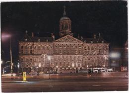 Amsterdam: OPEL REKORD C TAXI, 5x AUTOBUS/COACH, 'AUTO'S WEG XXX' GRAFFITI - Koninklijk Paleis, Dam - Toerisme
