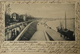 Koln / Gruss Aus // Das Neue Kaiser Friedrich Ufer (Schiff) 1902 - Koeln