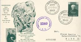 Guido Gezelle Vlämischer Dichter Österreichische Zensurstelle 2240 Censu - Brieven En Documenten
