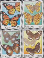Tokelau 219-222 (kompl.Ausg.) Postfrisch 1995 Schmetterlinge - Tokelau