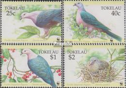Tokelau 210-213 (kompl.Ausg.) Postfrisch 1995 Pazifikfruchttaube - Tokelau