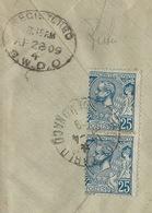 UZ--046-. DALLAY N° 25 - LETTRE RECOMMANDE DE 1909, POUR LONDRES, COTE 20.00 € , BONNE OCCASION - Monaco