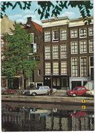 Amsterdam: 2x RENAULT DAUPHINE, MERCEDES W110, BROMMER, MOTOR, VW 1200 - Anne Frank Huis - (Holland) - Toerisme