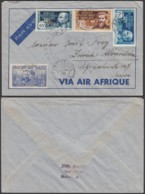 AEF - Lettre Yv 56+63+64/5  OAT Vers Switzerland  (7G29710)DC2516 - A.E.F. (1936-1958)