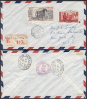 AEF - Lettre Recommandé Yv 40+PA9 De Brazzavile Vers New York, USA 12/10/1939  (7G29710)DC2519 - Covers & Documents
