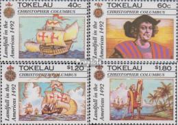 Tokelau 188-191 (kompl.Ausg.) Postfrisch 1992 Entdeckung Von Amerika - Tokelau
