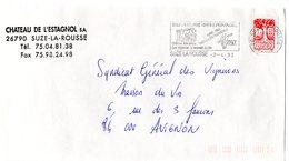 DROME - Dépt N° 26 = SUZE La ROUSSE 1993 = Flamme Type II = SECAP Illustrée  'PAQUES En PROVENCE' - Postmark Collection (Covers)