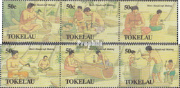 Tokelau 177-182 Dreierstreifen (kompl.Ausg.) Postfrisch 1990 Traditionelles Handwerk - Tokelau