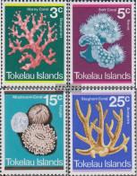 Tokelau 30-33 (complete Issue) Volume 1973 Completeett Unmounted Mint / Never Hinged 1973 Coral - Tokelau