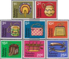 Tokelau 18-25 (complete Issue) Volume 1971 Completeett Unmounted Mint / Never Hinged 1971 Einheimisches Craft - Tokelau