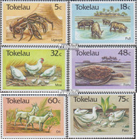 Tokelau 130-135 (kompl.Ausg.) Postfrisch 1986 Tiere - Tokelau