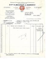 Facture 1953 / 75 PARIS Rue Timbaud / BEUZEN & SORDET / Confiserie, Jouets 2cv CITROEN - France