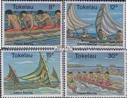 Tokelau 58-61 (kompl.Ausg.) Postfrisch 1978 Kanu Wettkämpfe - Tokelau