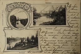 Hannover / Alte Mehrbild - AK // Maschpark Und Partie A. D. Leine 1906 - Hannover