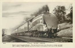L.N.E.R SILVER JUBILEE ~ AN OLD REAL PHOTO POSTCARD #87237 - Trains