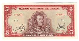 Chile 5 Escudos 1964 UNC .C3. - Chile