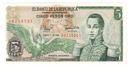 Colombia 5 Pesos 01/01/1981 UNC .C3. - Colombie