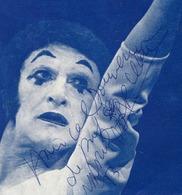 Original Autograph Marcel Marceau  On The Advertising Leaflet Concerts In The USSR - Autographs