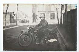 MOTO / Motard : Carte Photo D'une Belle Peugeot Et Son Pilote - Motorbikes