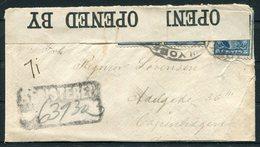 1918 USA Registered Censor Cover New York - Copenhagen Denmark - United States