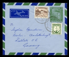 Letter Sent From Pakistan To Germany By Air Mail. Nice Additional Franking Of Envelope And Nice Stamps. / 2 Scans - Pakistan