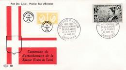 N°1246  De 1960  - Rattachement De La Savoie - FDC