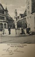 Reutlinger / Gruss Aus // Kaiser Maximilian Runnen Am Marktplatz 1903 - Reutlingen