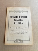 """Livret Ancien De 1951  """"Pouvoir D'achat Salaires Et Prix"""" - Vieux Papiers"""