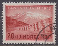 NORWAY 1943 (Mi.# 293) National Relief Fund - 20+10 øre - Norvège