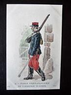 Paris Hergestellt Frankreich Ecole Prepartoire De Cavalerie D'Autun Ca. 1910 ? Sammlungsauflösung - Uniformen