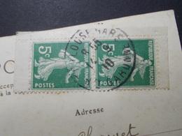 Marcophilie  Cachet Lettre Obliteration -  Paire Verticale Avec Bords N° 136 Type 2 - 1910 (2278) - 1877-1920: Periodo Semi Moderno