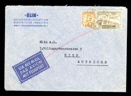 Letter Sent By Air Mail From Iraq To Austria. Nice Header And Nice Stamps And Cancel / 2 Scans - Pakistan