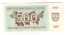 Lithuania 500 Talonas 1992 UNC .C3. - Litauen