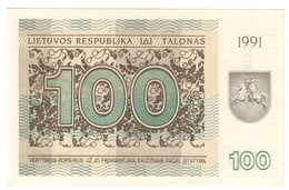 Lithuania 100 Talonas 1991 UNC .C3. - Lituanie