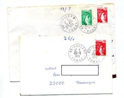 Lettre Cachet Vallery Sur Sabine - Marcophilie (Lettres)