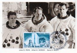 Carte 1er Jour Apollo 15(26-7-1971)-james B. Irwin Alfred M. Worden David R. Scott. - Espace