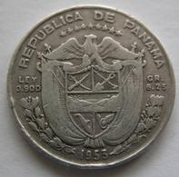 Panama  1/4 De Balboa  1953  Argento  Silver - Panama
